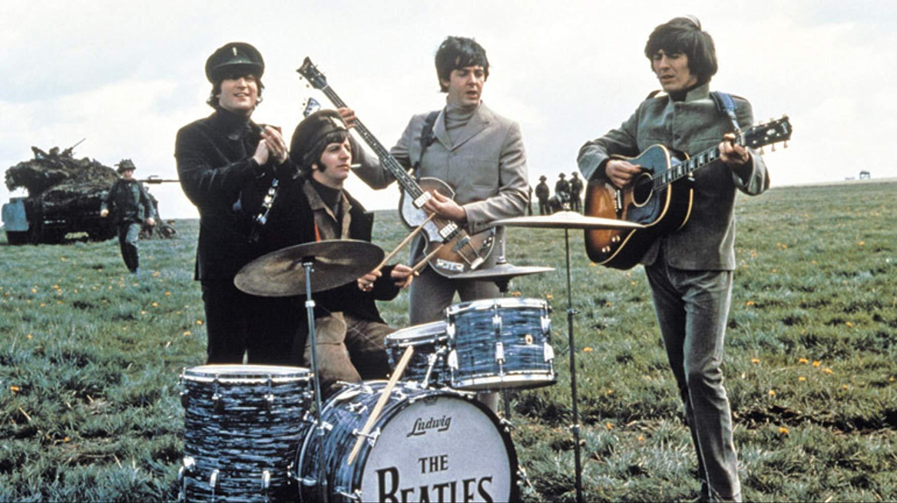 The Beatles - John Lennon, Ringo Starr, Paul McCartney and George Harrison - in Help (1965)