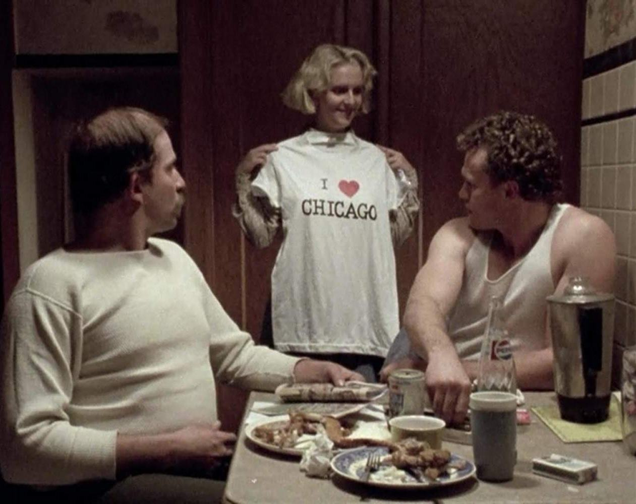 (l to r) Otis (Tom Towles), Becky (Tracy Arnold) and Henry (Michael Rooker) in Henry: Portrait of a Serial Killer (1986)