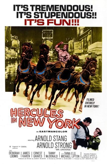 Hercules in New York (1970) poster