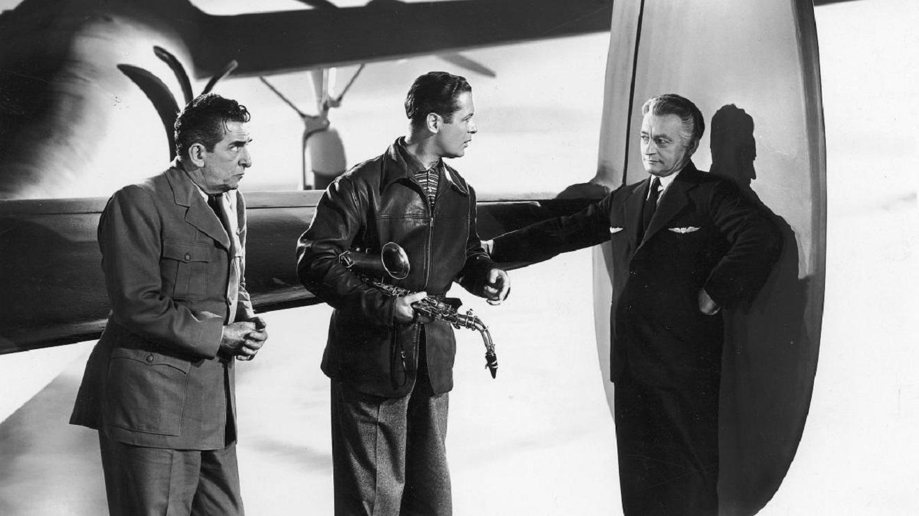 Edward Everett Horton, Robert Montgomery, Claude Rains in Here Comes Mr Jordan (1941)