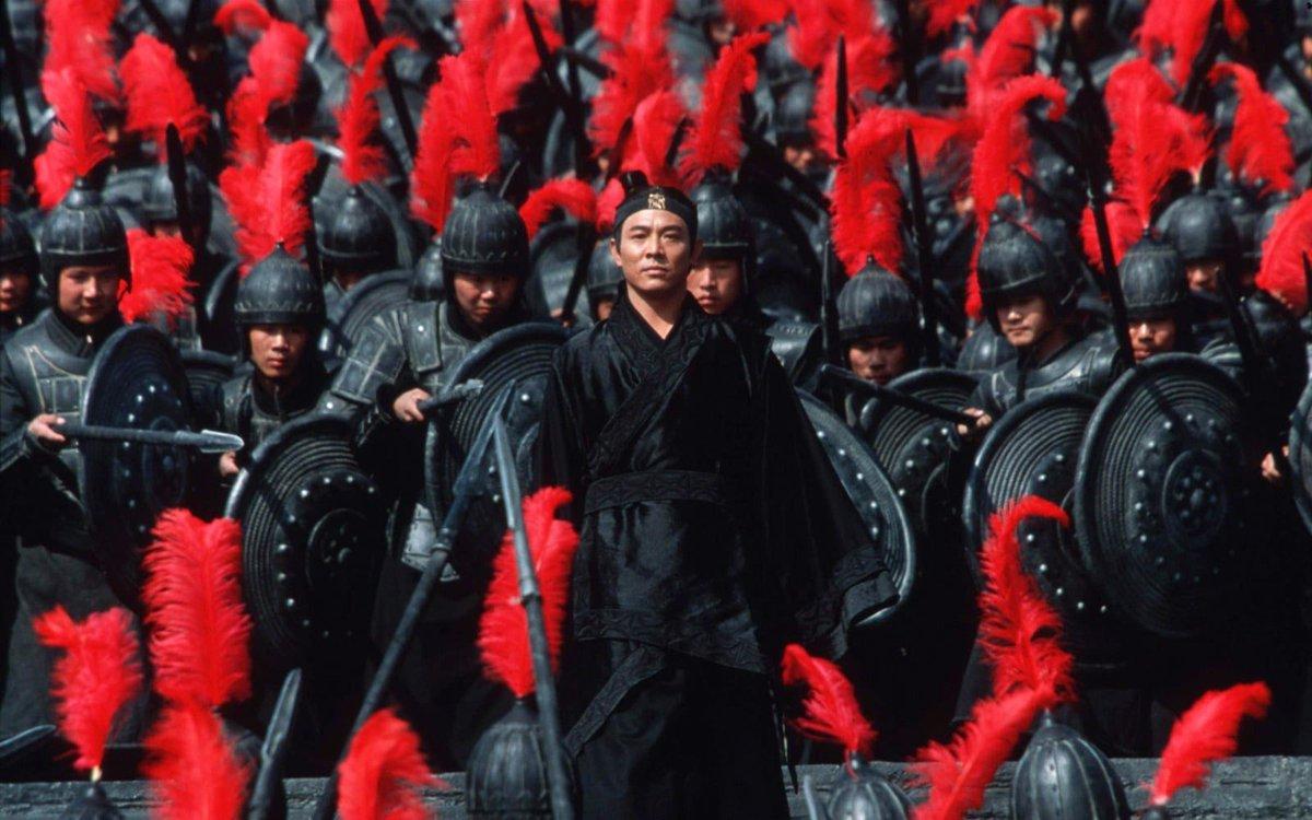 Jet Li as Nameless in Hero (2003)