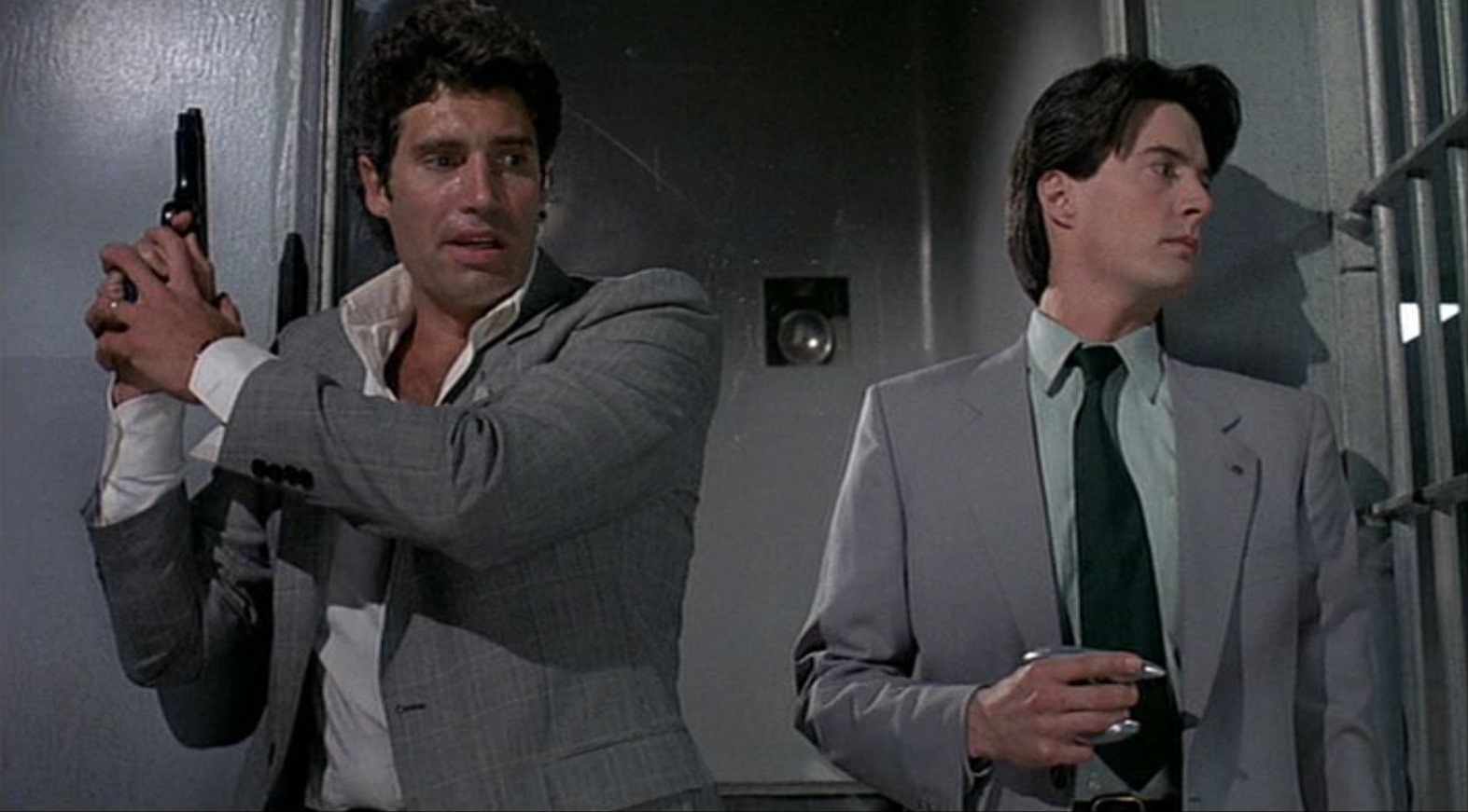 Michael Nouri and Kyle MacLachlan in The Hidden (1987)