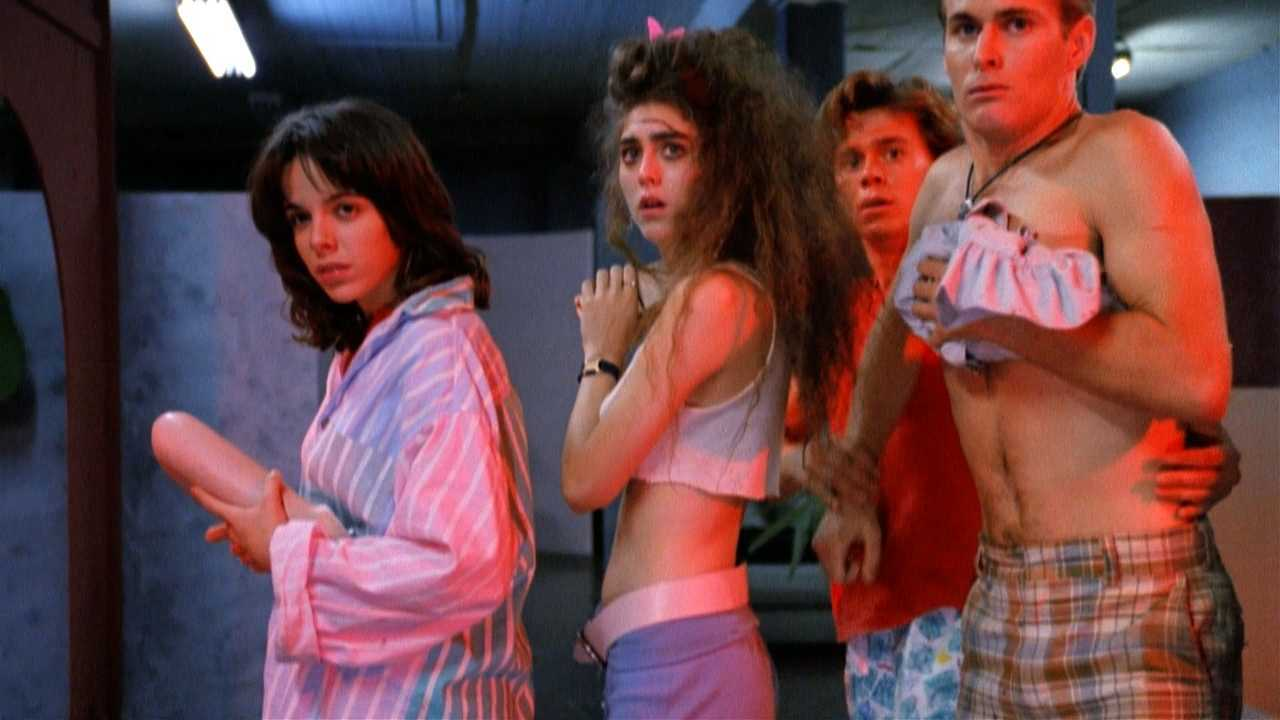 Donna Baltron, Bunky Jones, George Thomas and Brittain frye in Hide and Go Shriek (1988)