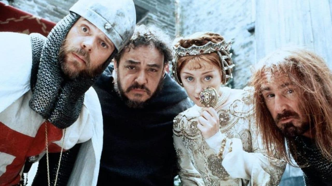 Rick Overton, John Rhys-Davies, Catherine Punch and Patrick Brymer in The High Crusade (1994)