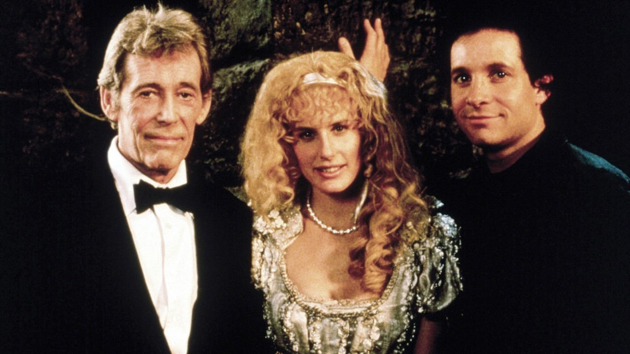 (l to r) Peter O'Toole, Darryl Hannah and Steve Guttenberg in High Spirits (1988)