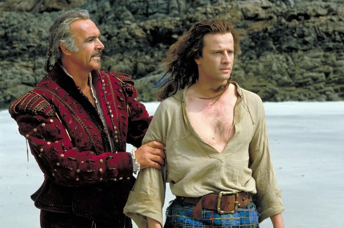 Juan Ramirez (Sean Connery) and Connor McLeod (Christopher Lambert) in Highlander (1986)
