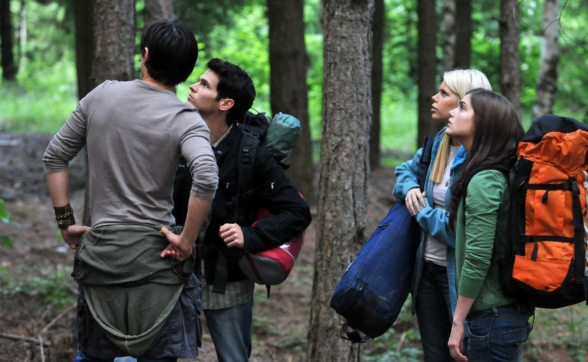 Alex Wyndham, Tad Hilgenbrinck, Sophie Monk, Janet Montgomery in The Hills Run Red (2009)