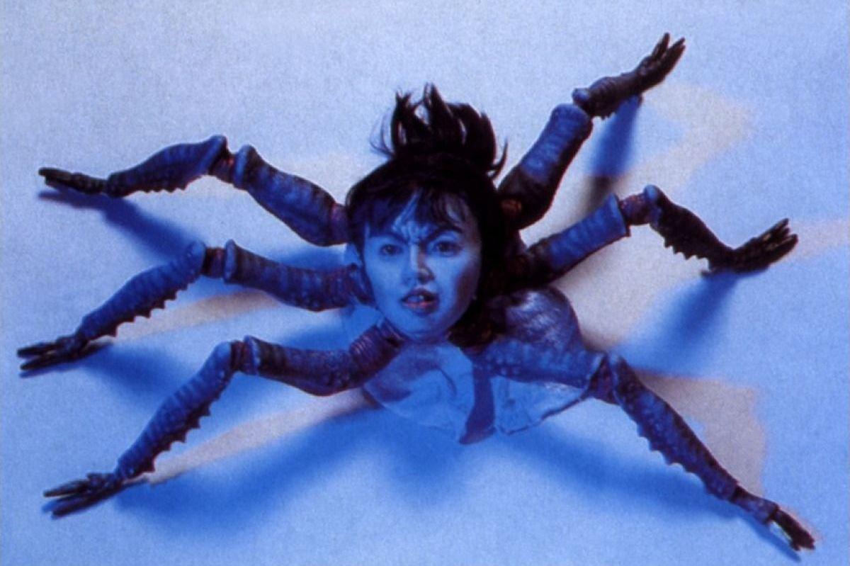 The spider head woman in Hiruko the Goblin (1990)
