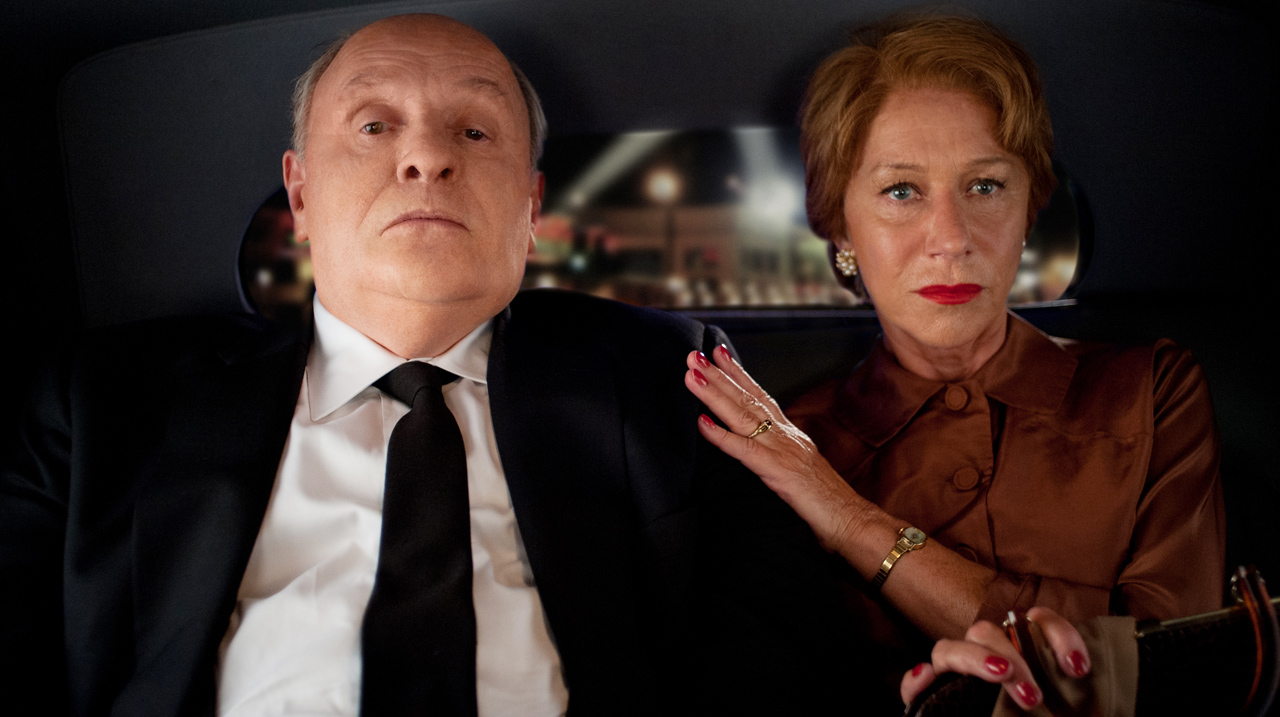 Alfred Hitchcock (Anthony Hopkins) and his wife Alma (Helen Mirren) in Hitchcock (2012)