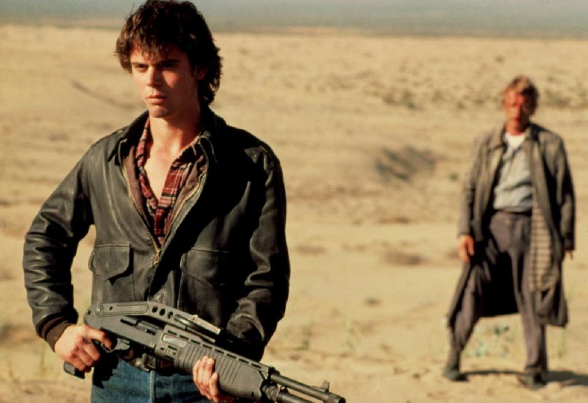 C. Thomas Howell and Rutger Hauer in The Hitcher
