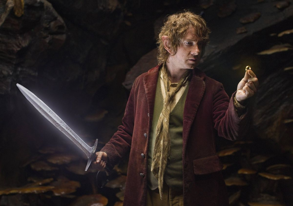 Martin Freeman as Bilbo Baggins with the One Ring in The Hobbit: An Unexpected Journey (2012)