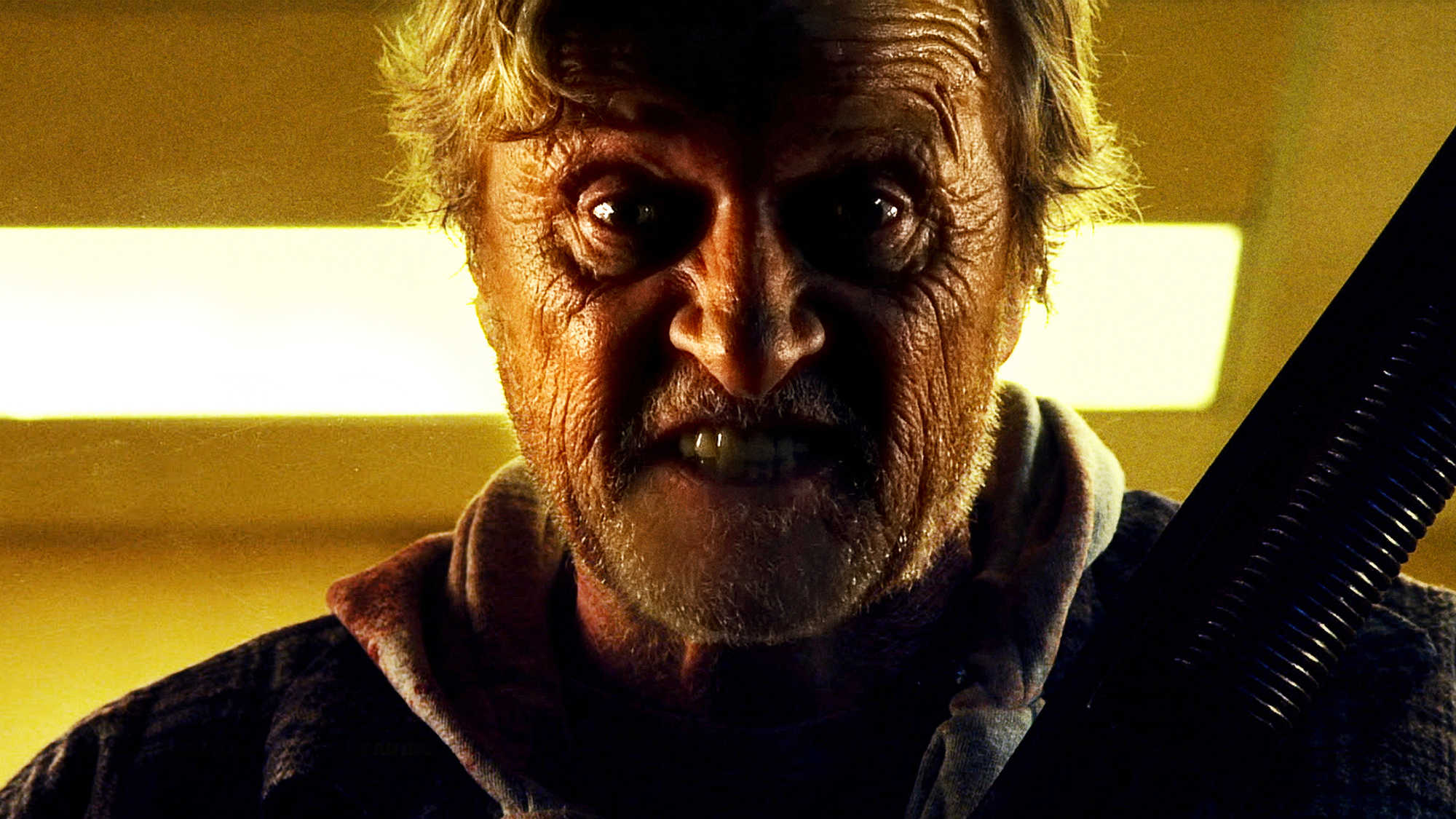 The Hobo (Rutger Hauer) goes on the revenge trail in Hobo with a Shotgun (2011)