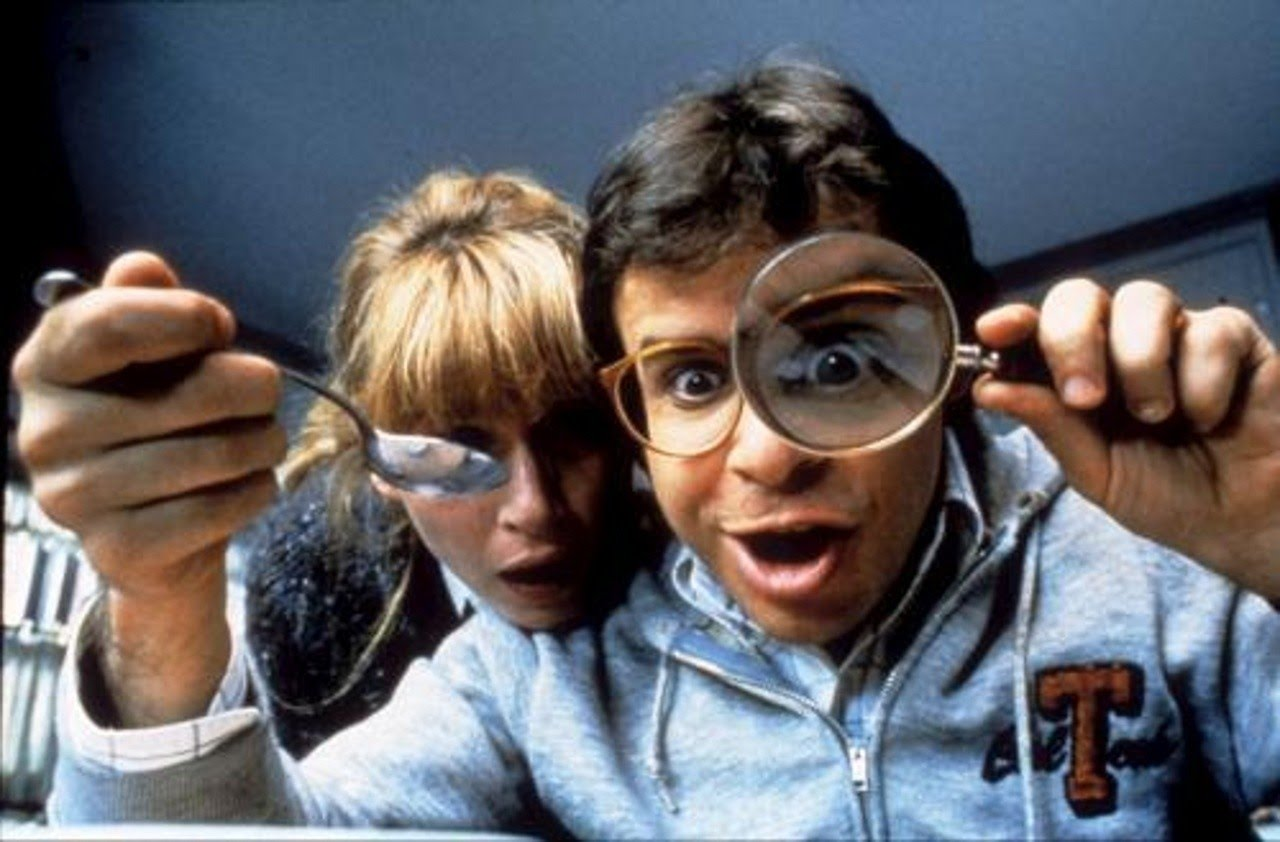 Marcia Strassman and Rick Moranis in Honey, I Shrunk the Kids (1989)