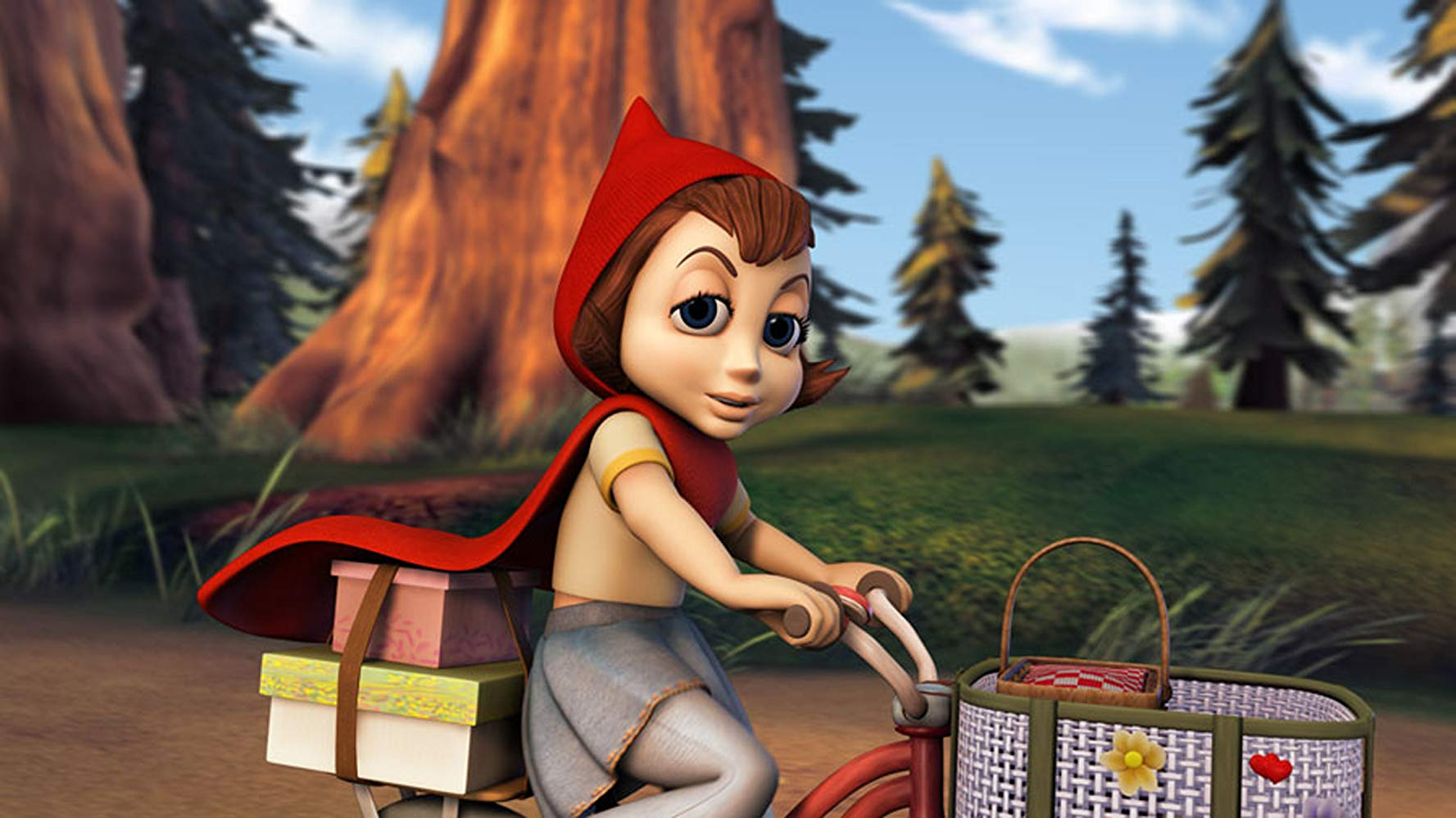 A modernised version of Little Red Riding Hood (voiced by Anne Hathaway) in Hoodwinked! (2005)