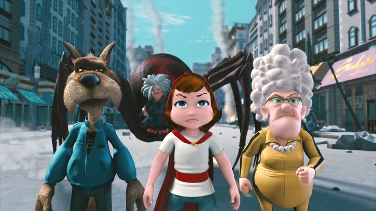 The Wolf, Red Riding Hood and Granny in Hoodwinked Too! Hood vs Evil (2011)
