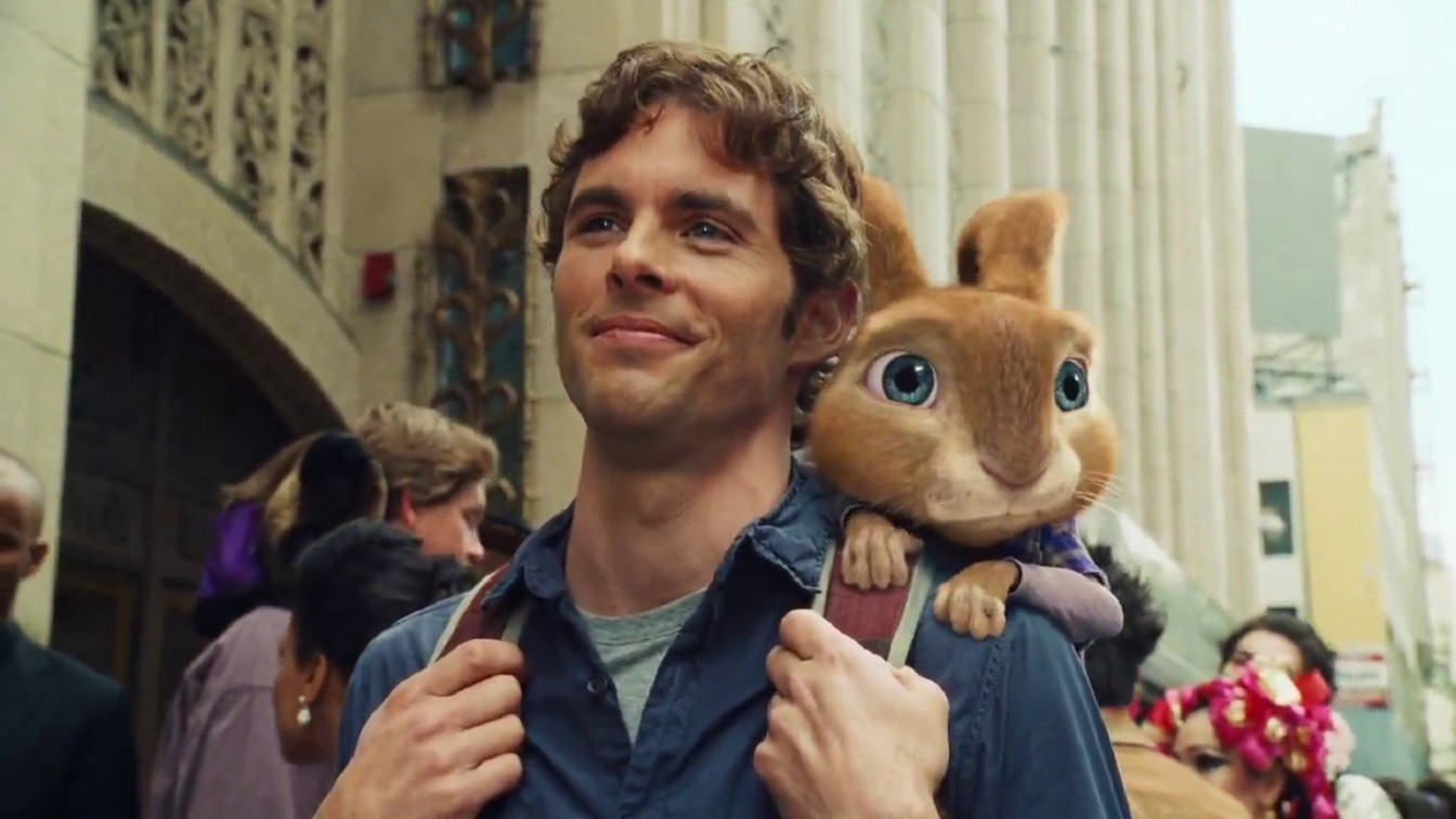 James Marsden and E.B. in Hop (2011)
