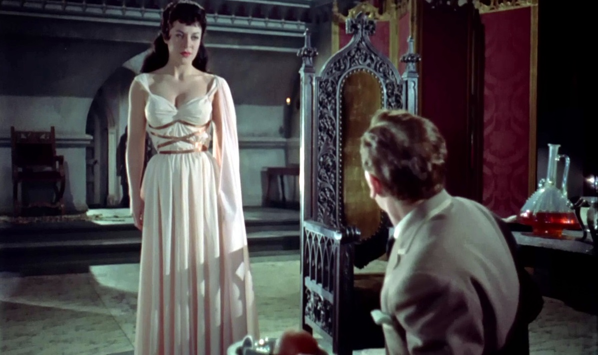 Valerie Gaunt and Peter Cushing in The Horror of Dracula (1958)