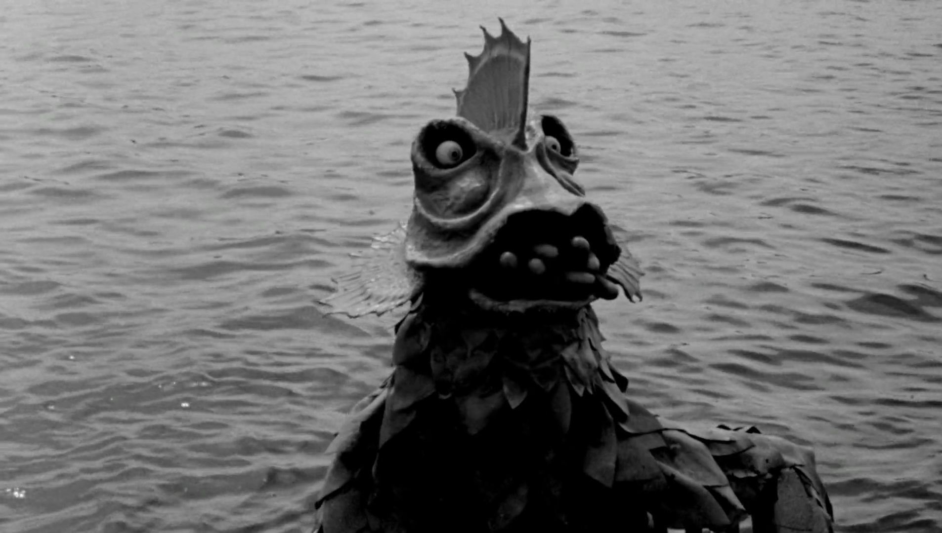 The mutant monsters in The Horror of Party Beach (1964)