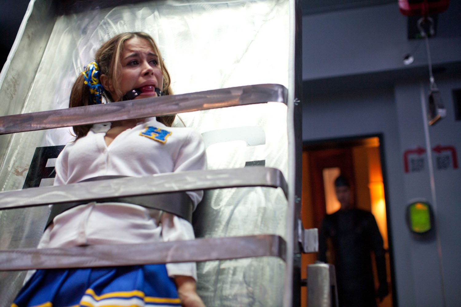 Zulay Henao about to be tortured in Hostel Part III (2011)