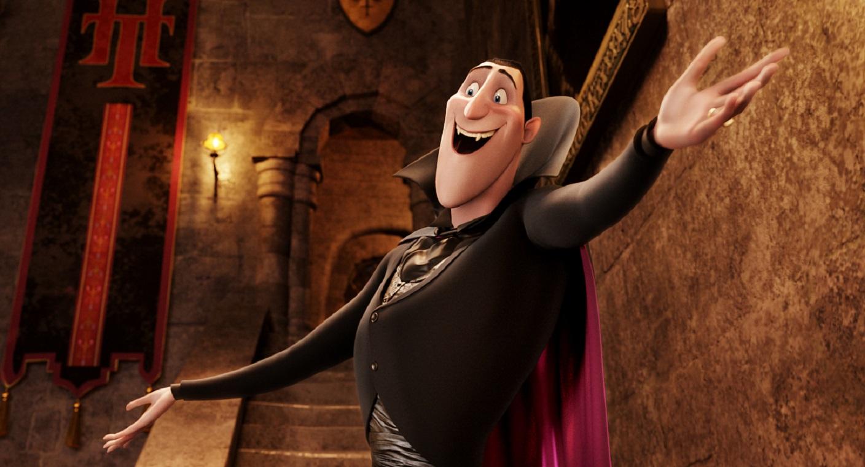 A cute, cuddly Adam Sandler-voiced Dracula in Hotel Transylvania (2012)