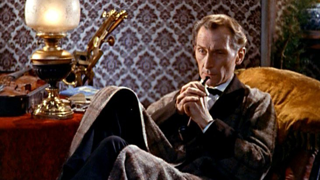 Peter Cushing as Sherlock Holmes in The Hound of the Baskervilles (1959)