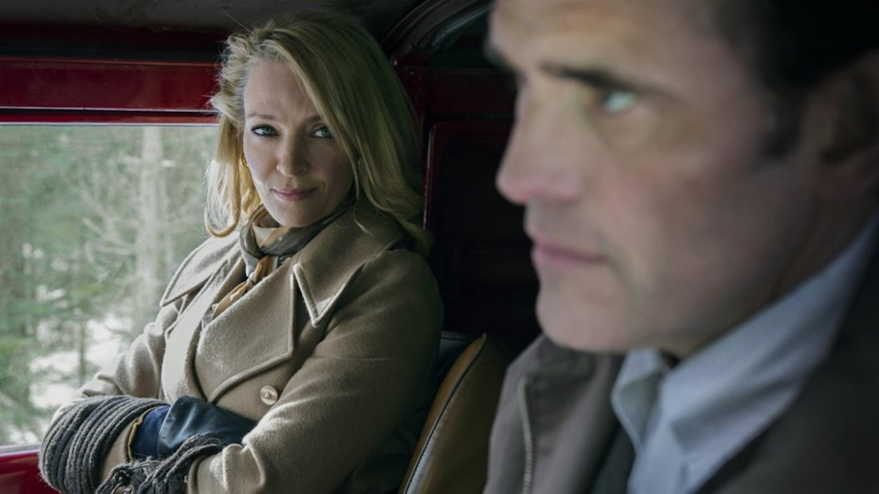 Matt Dillon offers Uma Thurman a ride in The House That Jack Built (2018)