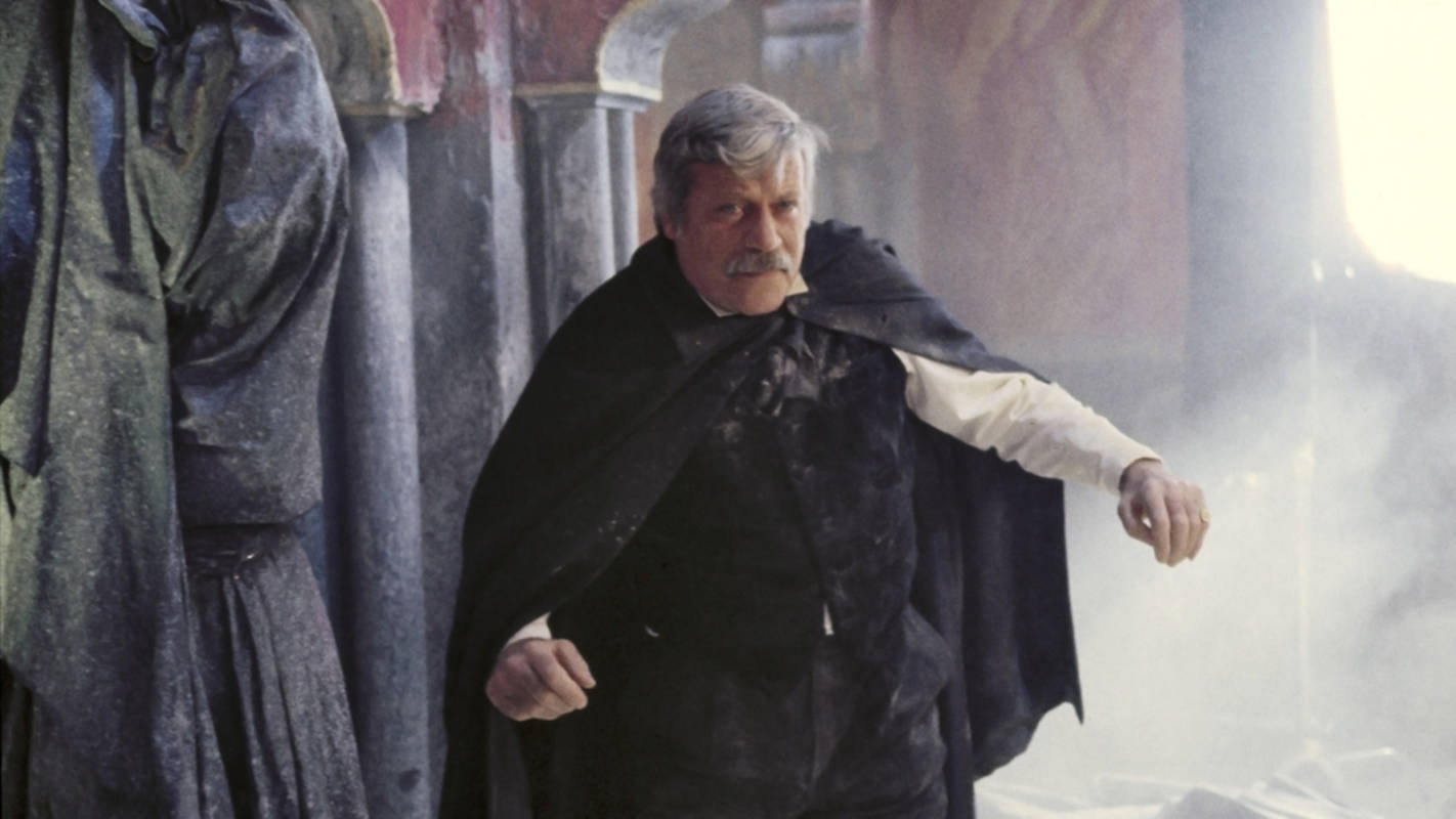 Oliver Reed as Roderick Usher in The House of Usher (1989)