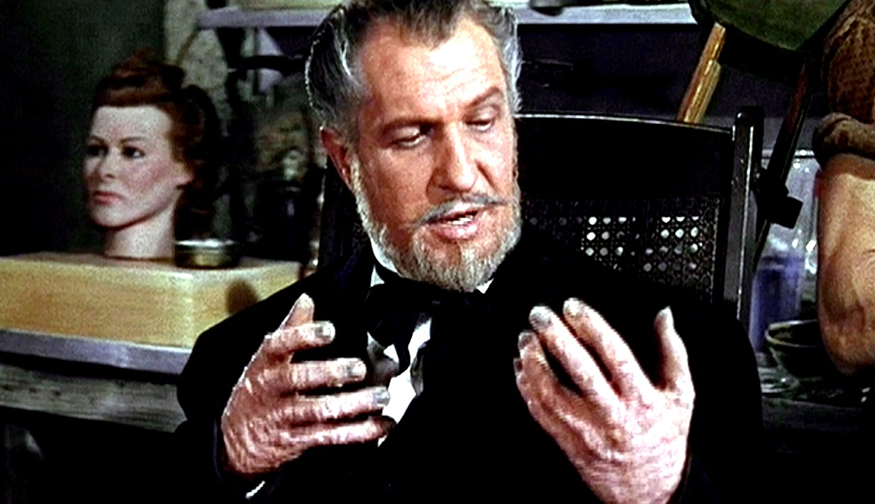 Vincent Price as mad waxworks curator Henry Jarrod in House of Wax (1953)