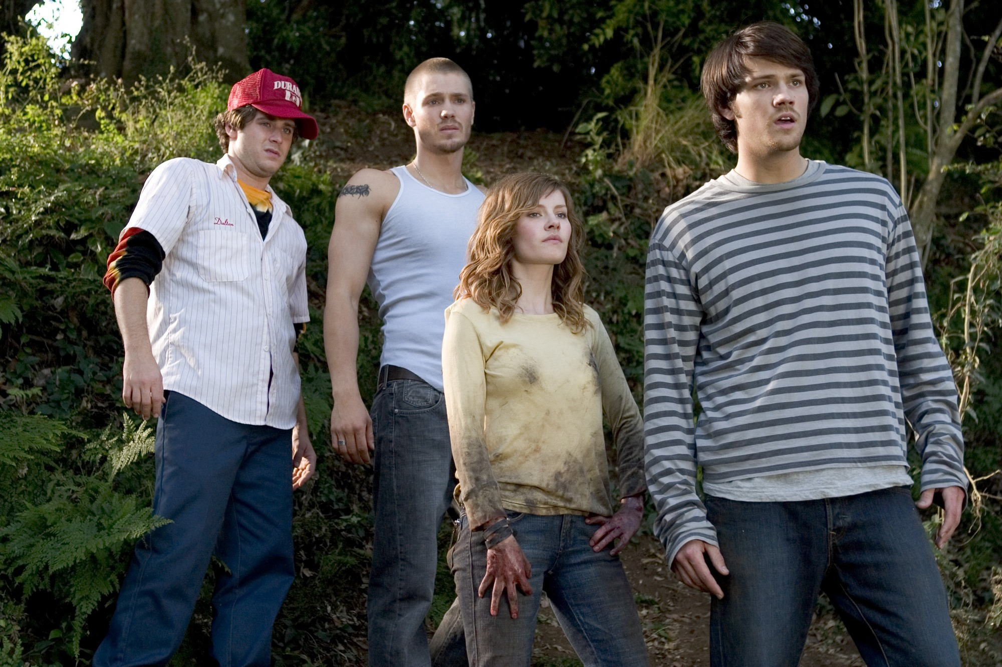 Jon Abrahams, Chad Michael Murray, Elisha Cuthbert and Jared Padalecki in House of Wax (2005)
