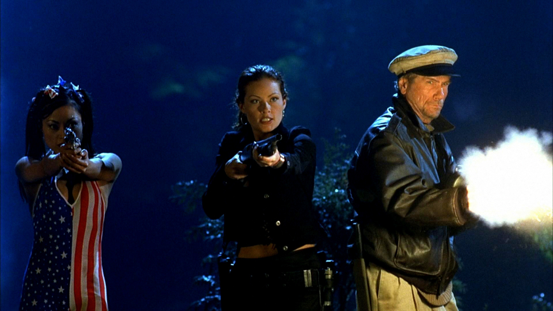 Ona Grauer, Enuka Okuma, Jurgen Prochnow in House of the Dead (2003)