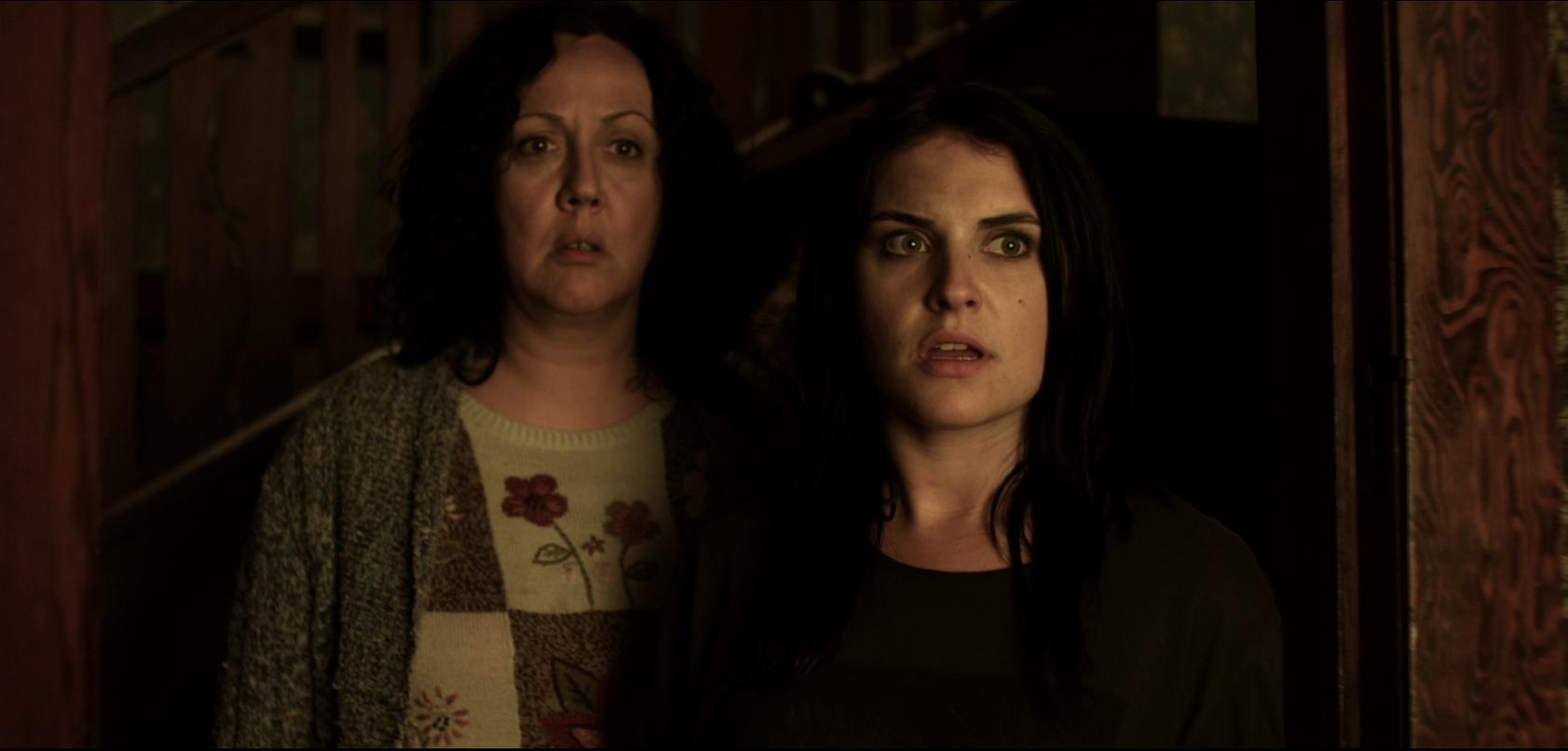 Rima Te Wiata and Morgana O'Reilly in Housebound (2014)
