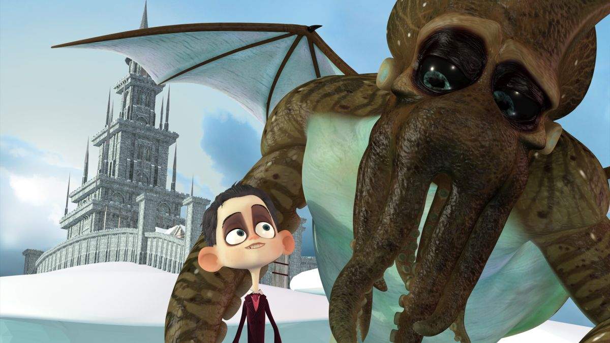 Young Howard Lovecraft and his friend Thu Thu Hmong in Howard Lovecraft and the Frozen Kingdom (2016)