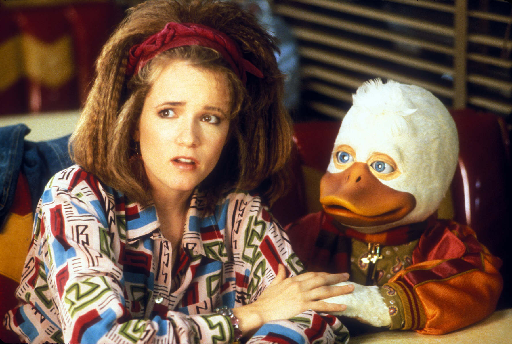 Beverly Switzler (Lea Thompson) and Howard in Howard the Duck (1986)