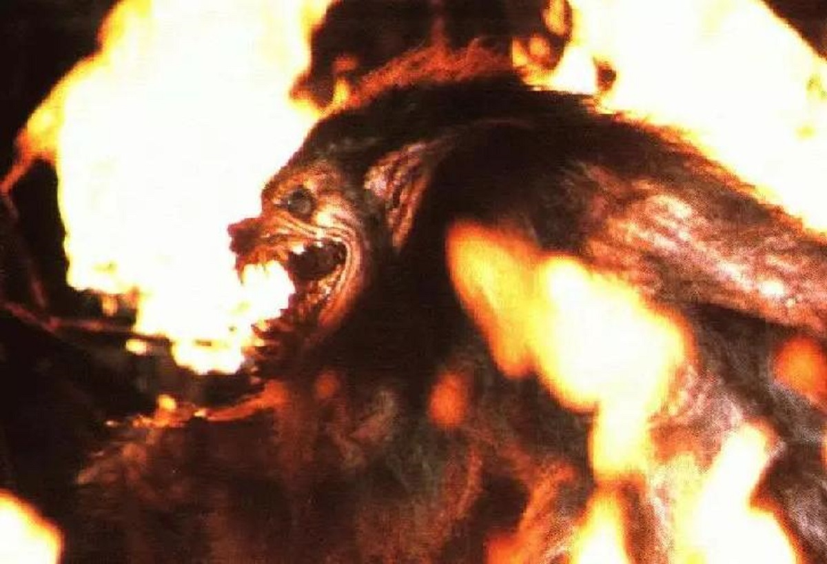 The werewolf transformation effects in Howling IV: The Original Nightmare (1988)