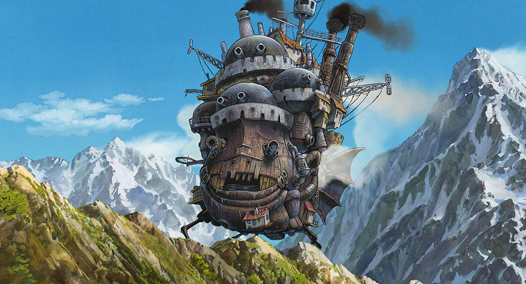 The castle in Howl's Moving Castle (2004)