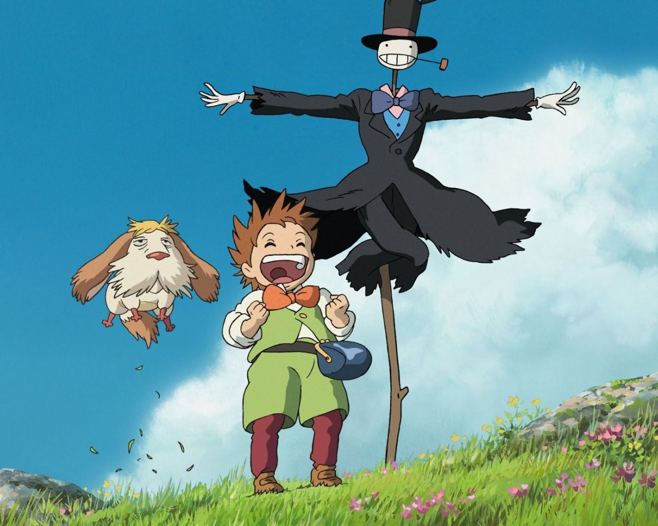 Hin, markl and Turnip in Howl's Moving Castle (2004)