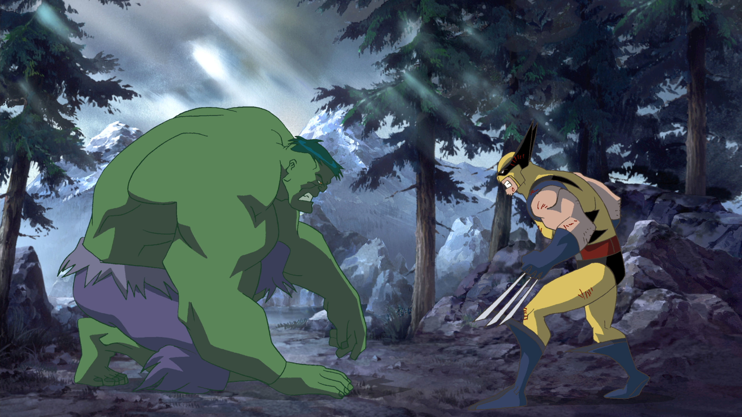 The Hulk goes up against Wolverine in Hulk Vs (2009)