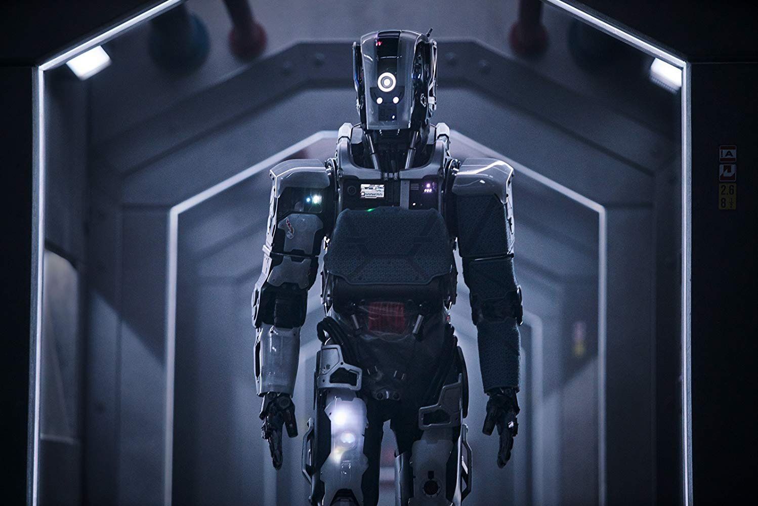 The robot Mother (played by Luke Hawker voiced by Rose Byrne) in I Am Mother (2019)