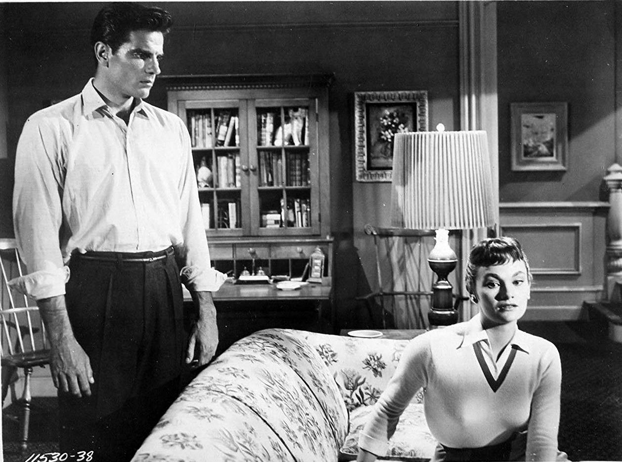 Alien possessed husband Tom Tryon and wife Gloria Talbott in I Married a Monster from Outer Space (1958)