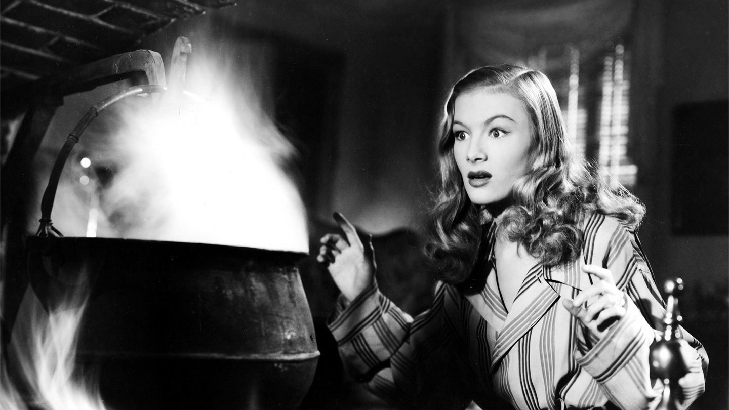 Veronica Lake as the witch Jennifer in I Married a Witch (1942)