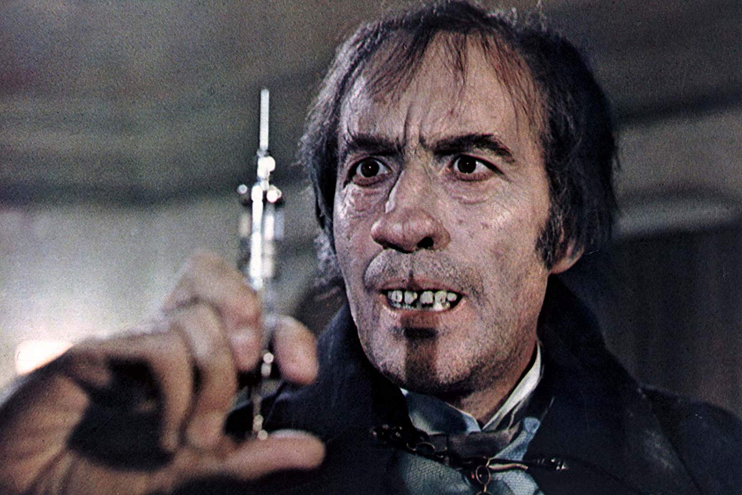 Christopher Lee as Dr Charles Marlowe/Edward Blake (or Dr Jekyll and Mr Hyde) in I, Monster (1971)