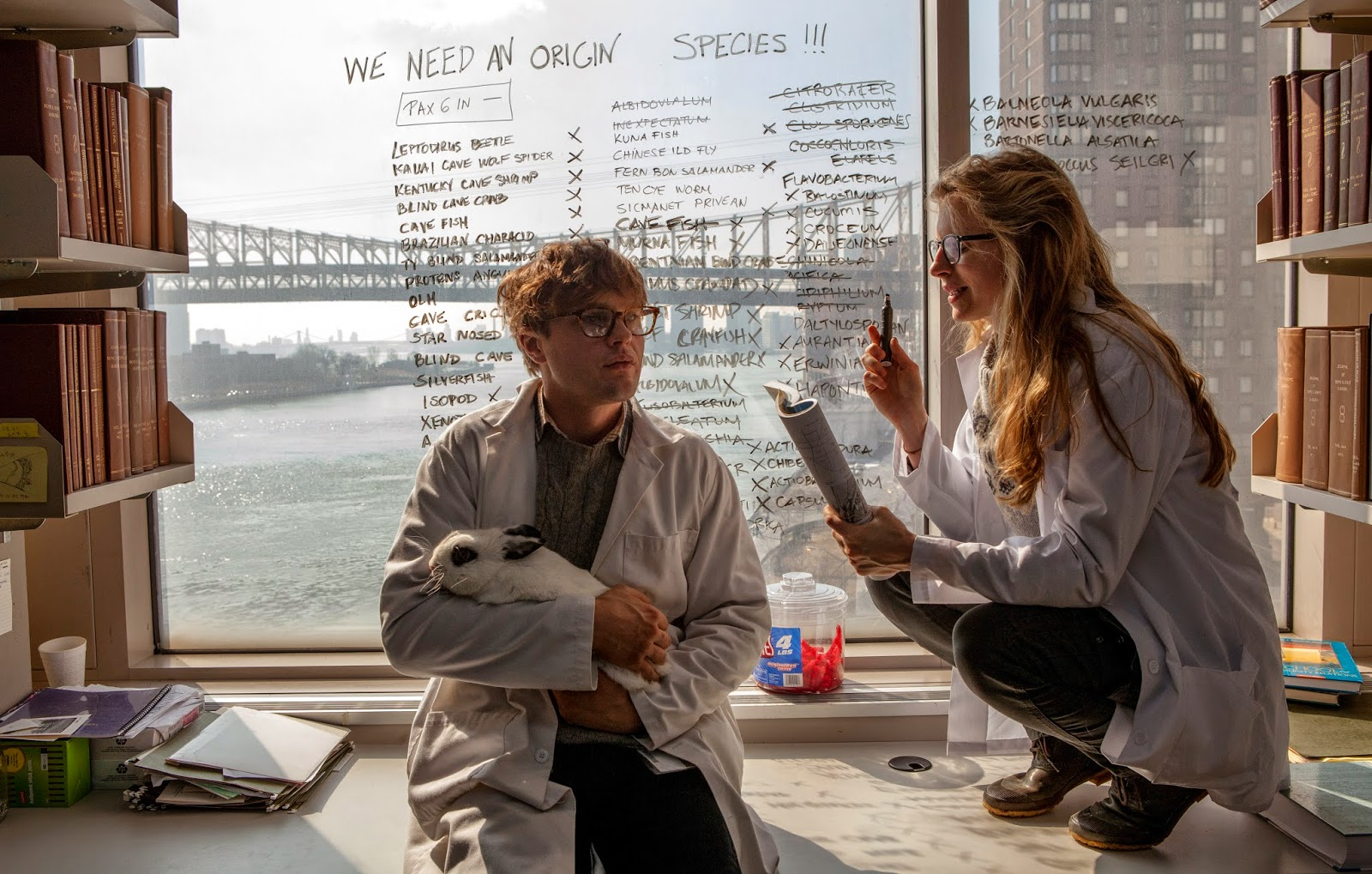 Michal Pitt and Brit Marling in I Origins (2014)