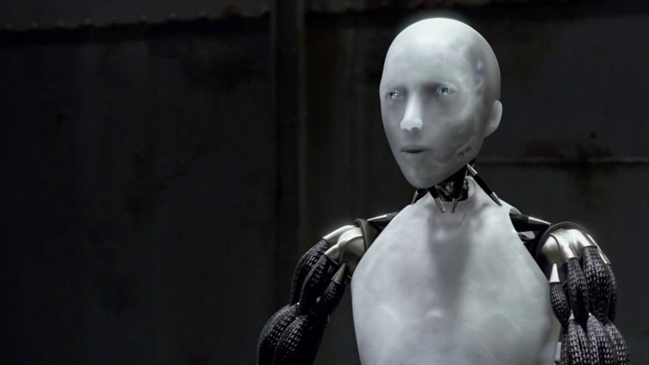 Sonny the robot who has developed independent thought in I, Robot (2004)