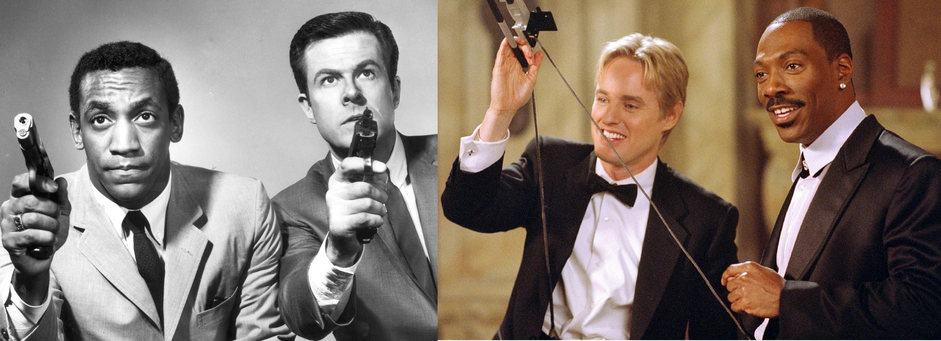 Bill Cosby and Robert Culp (1965-8); Owen Wilson and Eddie Murphy in I Spy(2002)
