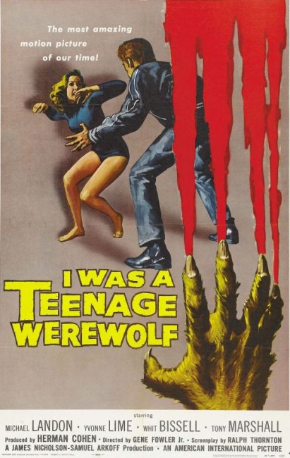 I Was a Teenage Werewolf (1957) poster