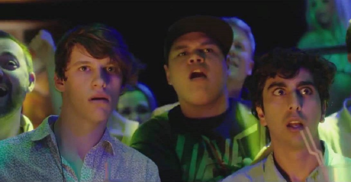 Three friends - (l to r) Jordan Coulson, Ed Kear and Homer Todiwala on holiday face the zombie apocalypse in Ibiza Undead (2016)