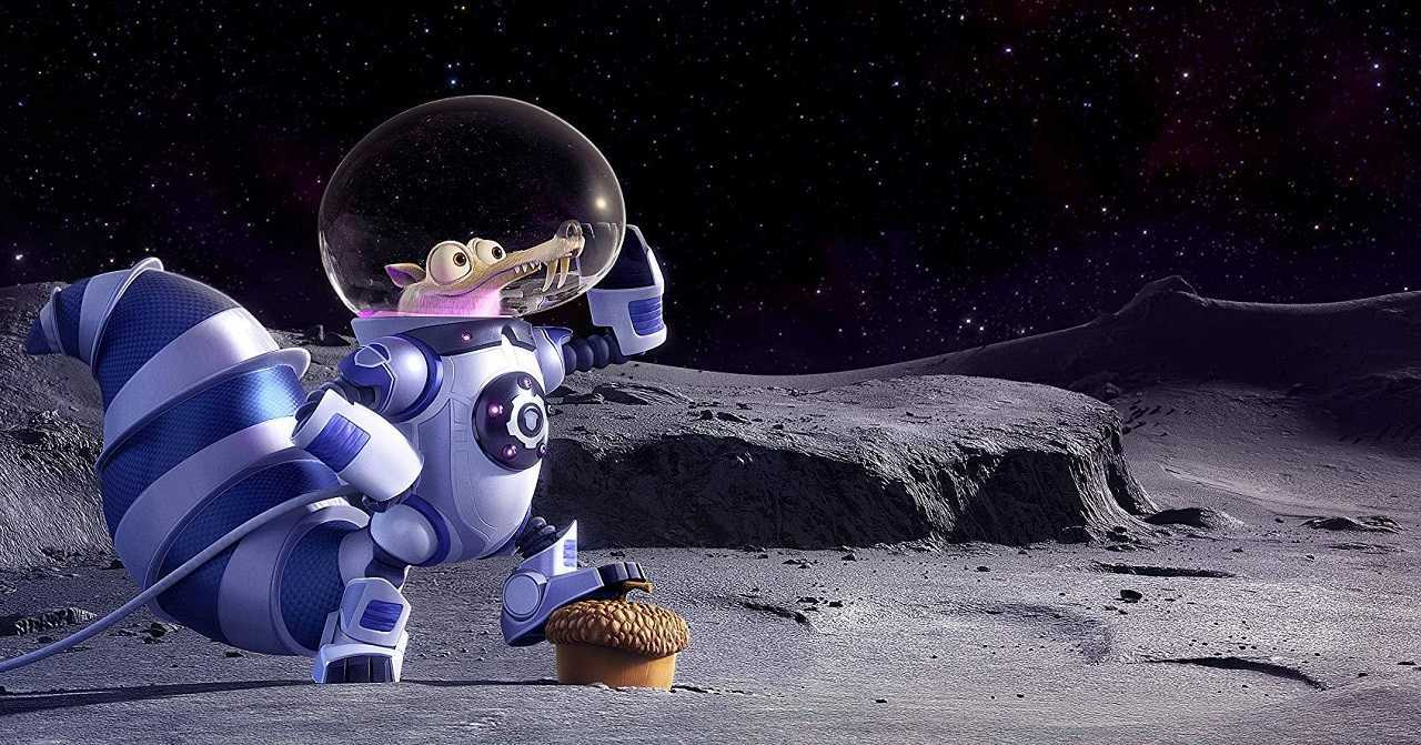Scrat goes into space in Ice Age: Collision Course (2016)