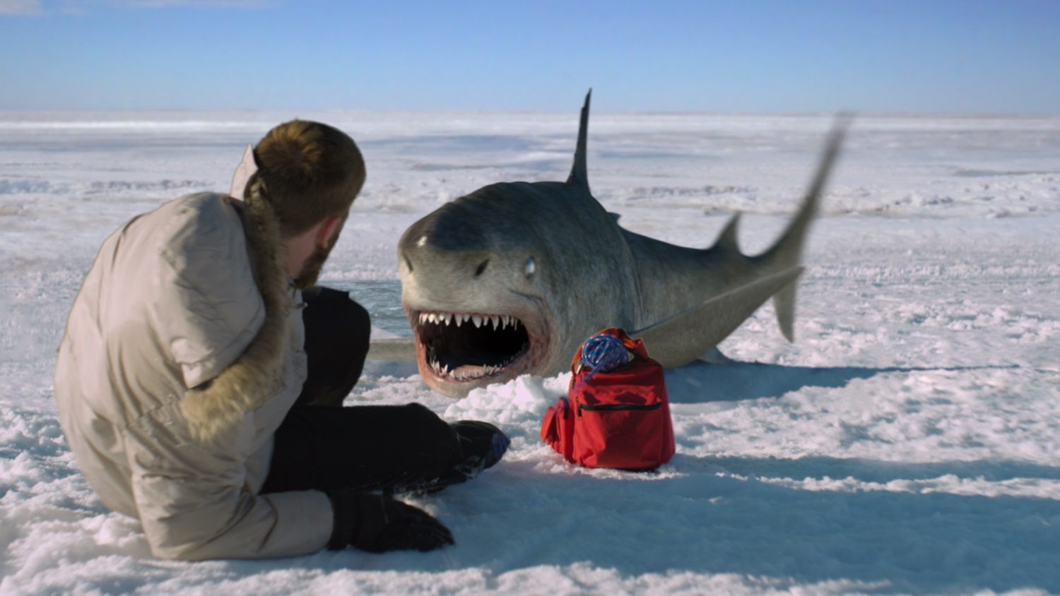 Shark attack at the North Pole in Ice Sharks (2016)