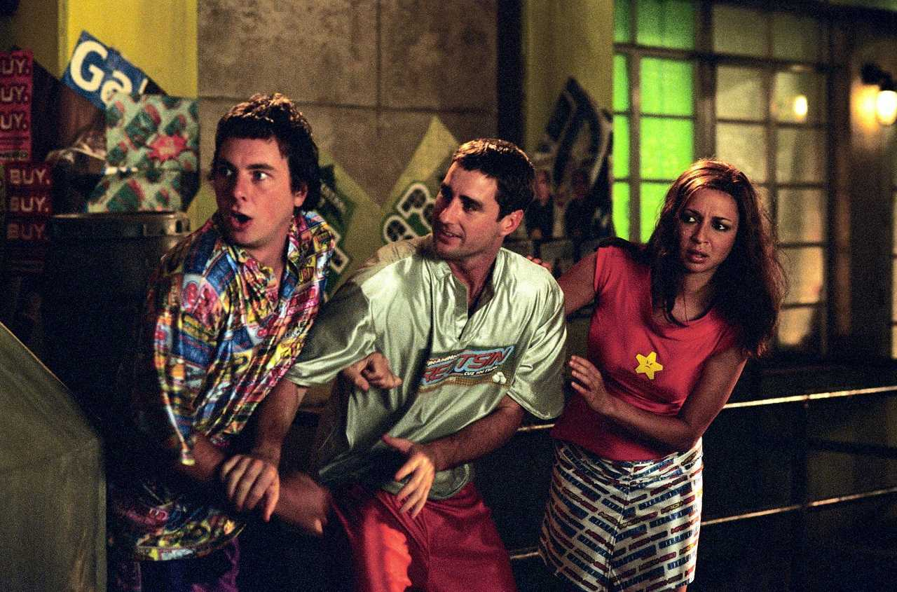 Dax Shepard, Luke Wilson and Maya Rudolph in Idiocracy         (2006)