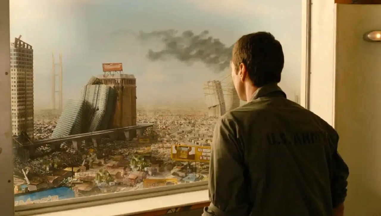 Luke Wilson wakes up in a future overrun by idiots in Idiocracy (2006)